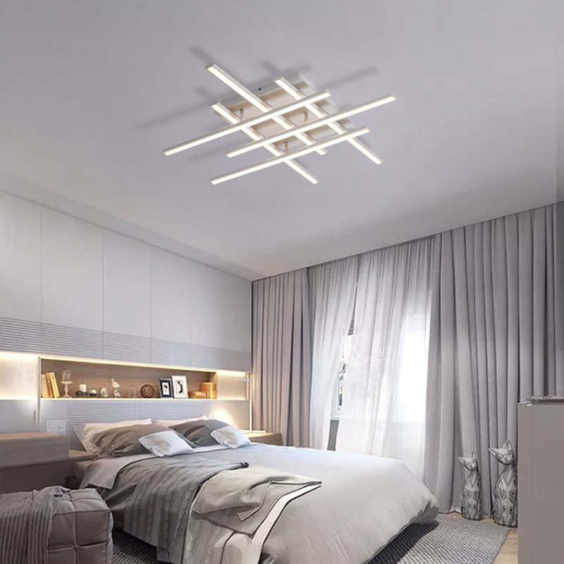 Crossed Lines Modern Ceiling Light Modern Place