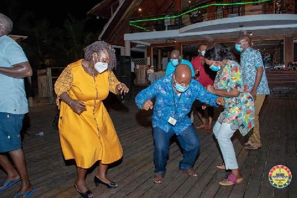 Photos: MPs ignore Akufo-Addo's directive to 'party' at Aqua Safari