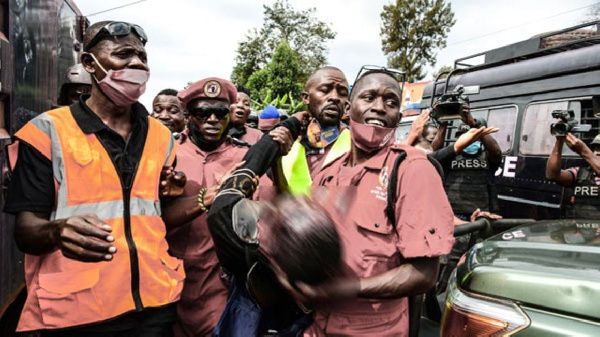 Ghetto TV cameraman, is carried to hospital after he was allegedly shot in Masaka