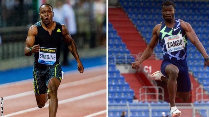 African records for South Africa's Akani Simbine and Burkina Faso's Fabrice Hugues Zango