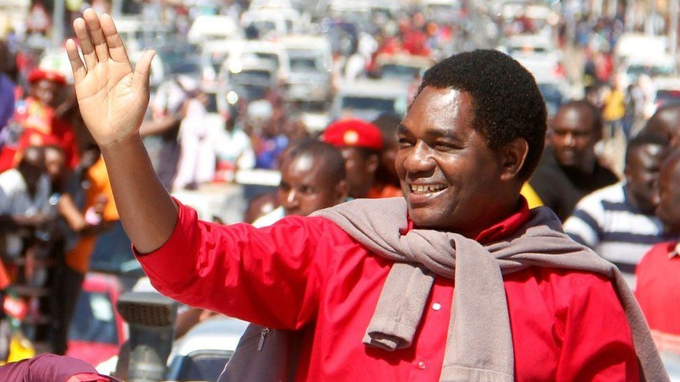 Hakainde Hichilema: Zambia's new president inspires African opposition leaders