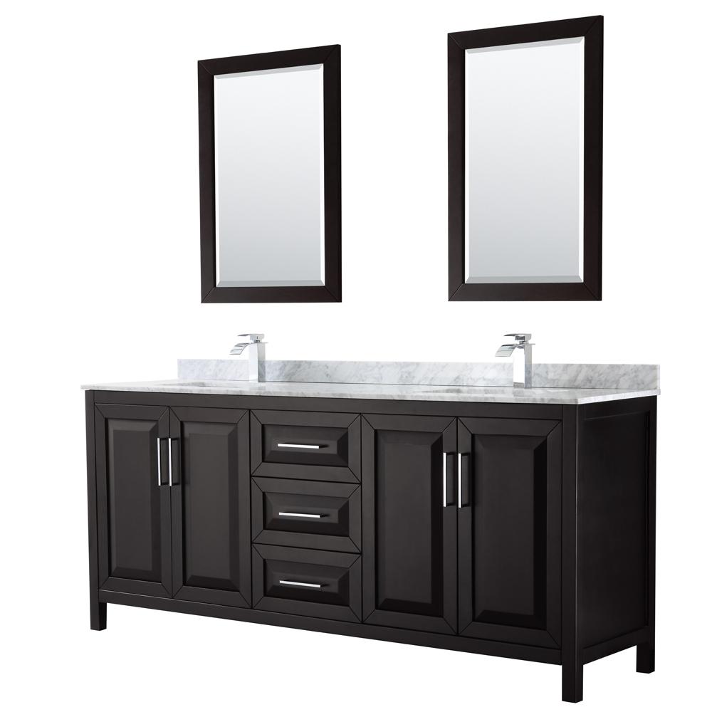 daria 80 double bathroom vanity by wyndham collection dark espresso