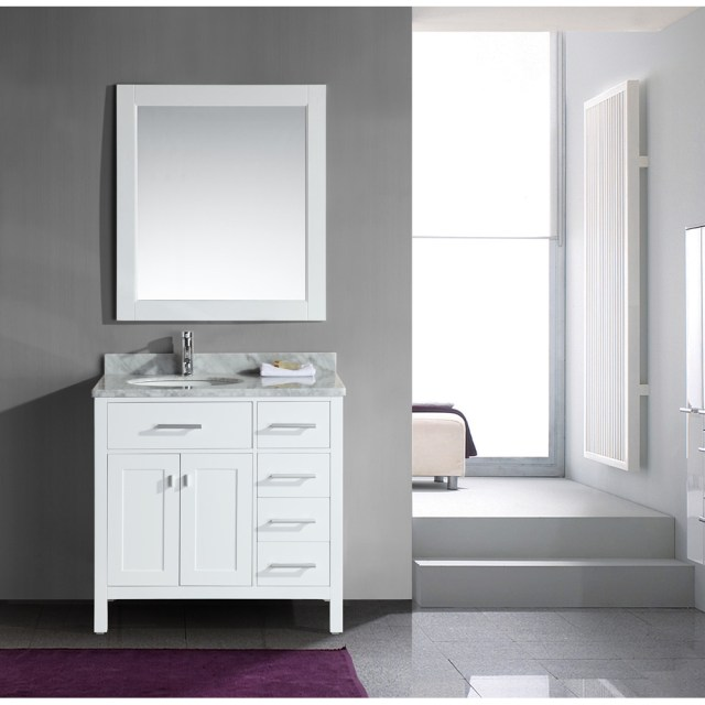 "Design Element London 36"" Single Vanity with Drawers on ... on {keyword}"
