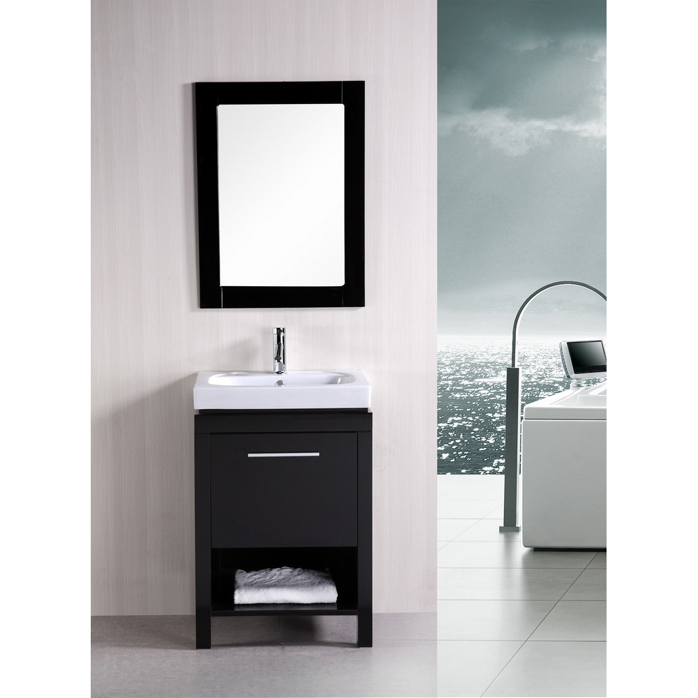 "Design Element New York 24"" Contemporary Bathroom Vanity ..."