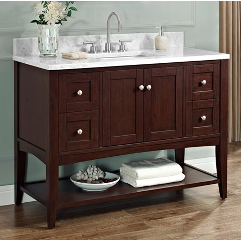 Fairmont Designs Shaker Americana 48 Vanity Open Shelf