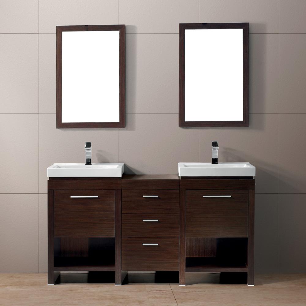 vigo 59 adonia double bathroom vanity with mirrors wenge