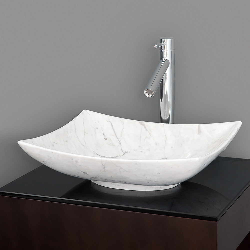 Arista Vessel Sink By Wyndham Collection White Carrara Marble Free Shipping Modern Bathroom