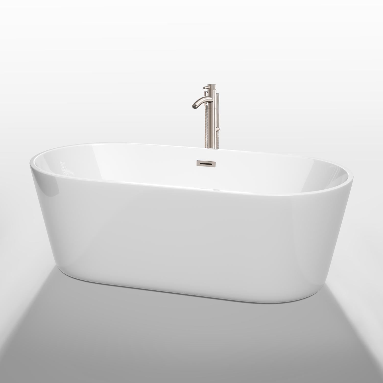 Carissa 67 Soaking Bathtub By Wyndham Collection White