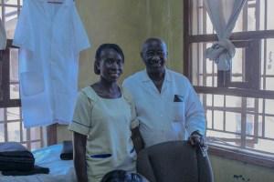 Augusta Kpanabum and Dr. Kanneh in Mercy Hospital Sierra Leone