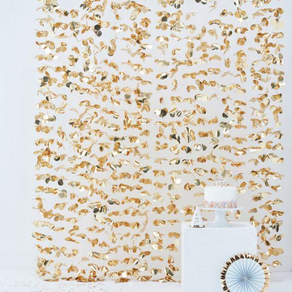 rideau de fleurs or modern confetti