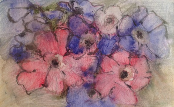 Angela Lyle, Blue and Pink Anemonies