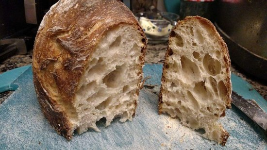 [interior crumb of sourdough]