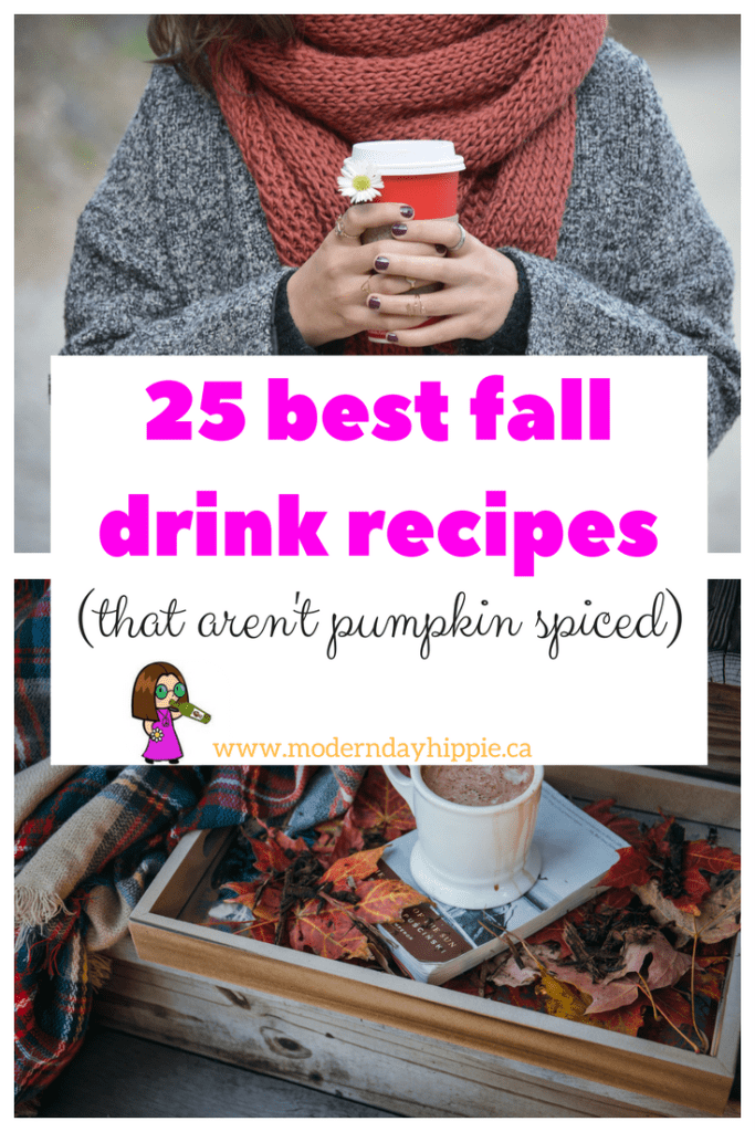 These fall drink recipes aren't pumpkin spiced
