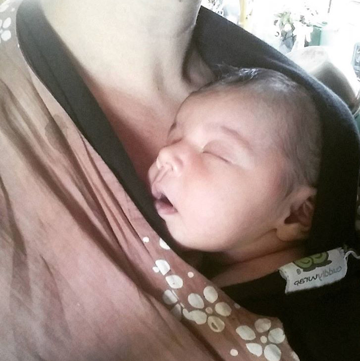 my newborn in the carrier