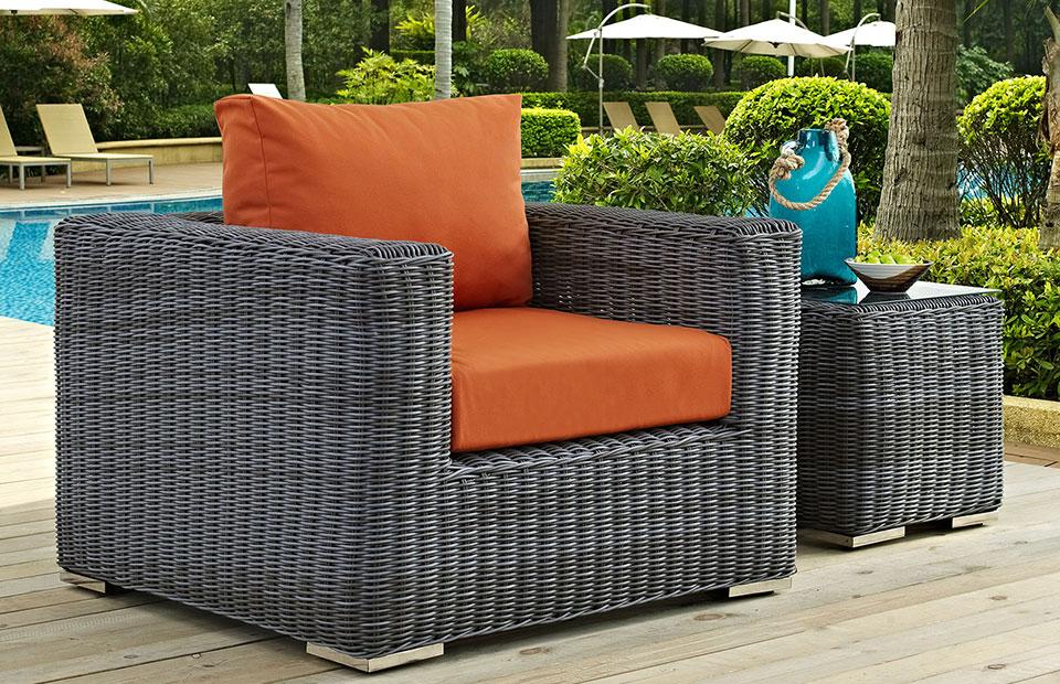 samuel wicker outdoor armchair modern digs