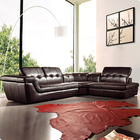 sofia high end leather sectional modern digs