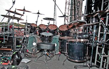 drummer Travis Smith's setup