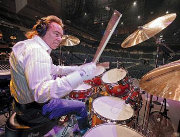 Elton Johon's Nigel Olsson playing