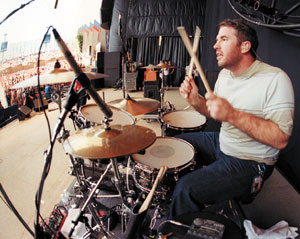 Drummer Zach Lind of Jimmy Eat World