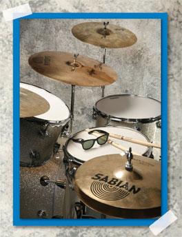 drumming great Joe Morello's setup