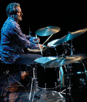 drummer Jeff Hamilton at the kit