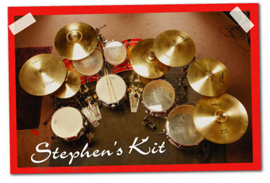 Drummer Stephen Perkins Kit
