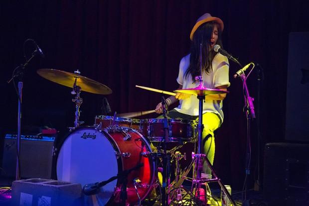 Drummer Marian Li Pino of La Luz