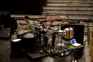 Drummer Manu Delago of Bjork