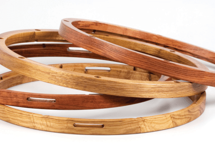 2 sets of wood hoops