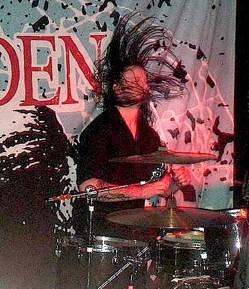 Jake Davison of Aiden : Modern Drummer