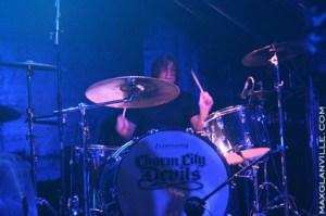 Drummer Jason Heiser of Charm City Devils