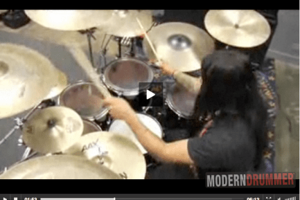Alex Lopez of Suicide Silence Video Modern Drummer
