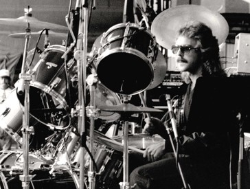 Spencer Dryden of Jefferson Airplane in Modern Drummer Magazine