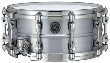 Listen to sound files of Tama's Starphonic aluminum snare drum.