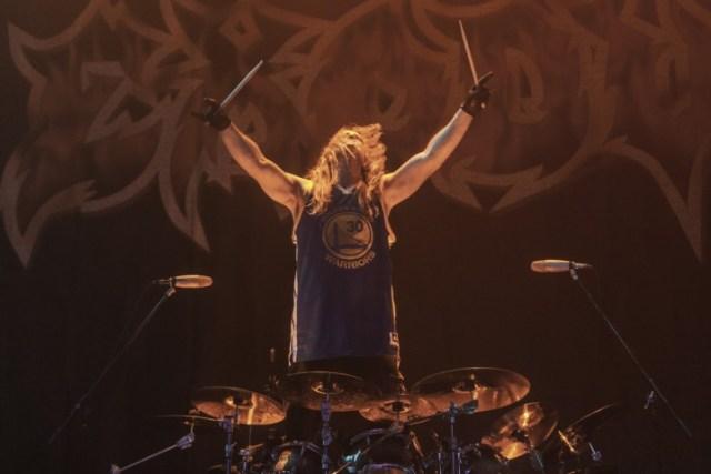 Drummer Tom Hunting of Exodus