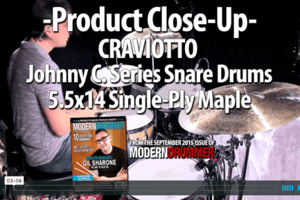 VIDEO DEMO: Craviotto Johnny C. Series Snare Drums