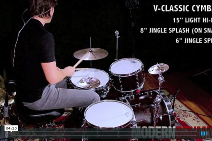 Video Demo! Product Close-Up: V-Classic Hi-Hats, Crashes, Rides, and Jingle Splashes