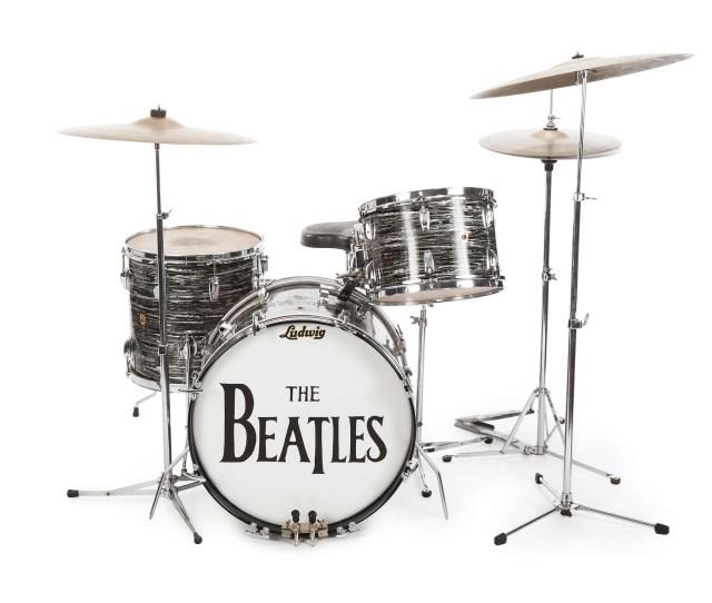 Ringo's 1963 Ludwig black oyster pearl three-piece drumkit