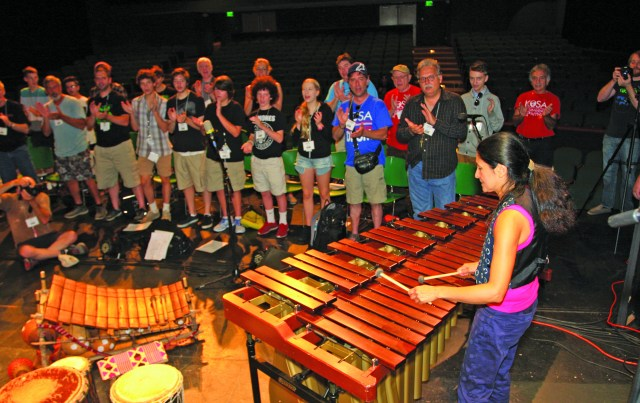 Valerie Naranjo conducts a master class on West African keyboard.
