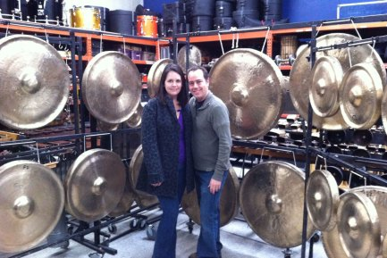 LA Percussion Rentals owners Abby and Dan Savell