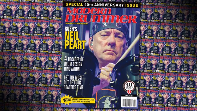 January 2016 Issue of Modern Drummer featuring Neil Peart