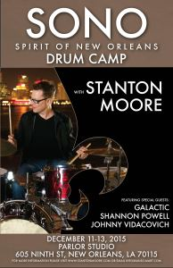 Galactic Drummer, Stanton Moore, Announces Third-Annual SONO Drum Camp