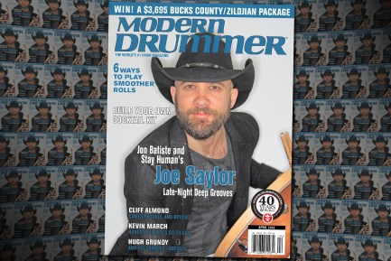 Joe Saylor on the April 2016 issue of Modern Drummer magazine