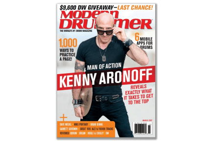 March 2017 issue of Modern Drummer Featuring Kenny Aronoff