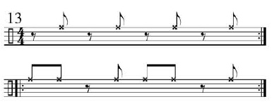 Funk Drumming Changing Subdivisions 5