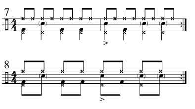 Funk Drumming Changing Subdivisions 3