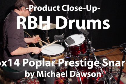 Video Demo! RBH Drums - 6x14 Poplar Prestige Snare