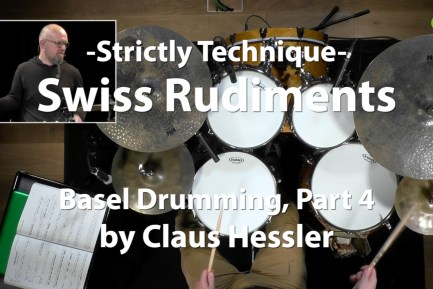 Watch this video lesson - Swiss Rudiments: Basel Drumming, Part 4