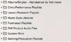 Playlist folders