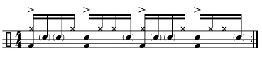 Paradiddles and 16th-Note Subdivisions 4